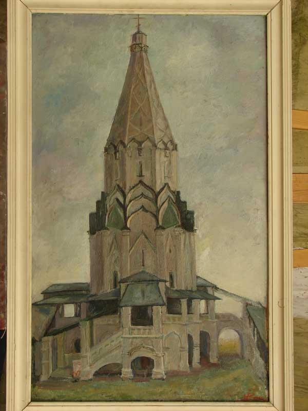 Церковь Вознесения Иоанна Предтечи в Коломенском, 80х50, к/м